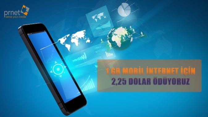 1GB İnternet için 2.25 dolar ödüyoruz