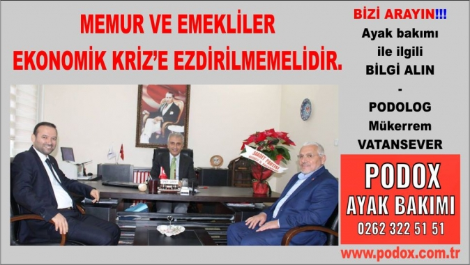 Memur ve Emekliler Ekonomik Kriz'e Ezdirilmemelidir, Saadet Partisi Kocaeli (SP) İl Başkanı Nurettin Çelik, Türk Sağlık Sen Kocaeli Şube Başkanı,
