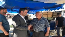 Başkan Turan Kefken pazarında