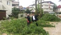 Başkan yağıştan zarar gören mahalleleri inceledi