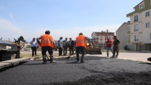 Körfez'de 6 sokağa 6 bin ton asfalt