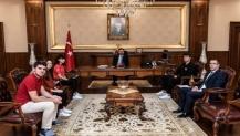 Vali Hüseyin Aksoy'a 19 Mayıs ziyareti