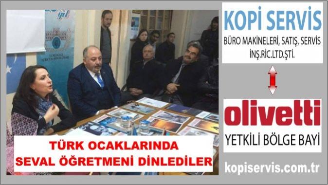 Öğretmenler gününde Seval Öğretmeni dinlediler, Türk Ocakları Kocaeli Şubesi, Seval Eroğlu, Milli Eğitim sistemi, Türk Ocaklari haberleri,