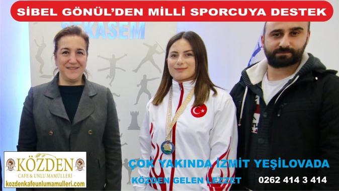 Sibel Gönül'den milli sporcuya destek