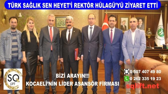 Türk Sağlık Sen Heyet'i Rektör Hülagü'yü Ziyaret Etti.